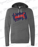 Elite Baseball Hoodie- Word Collage