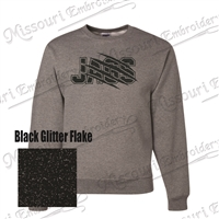 JAGS SWEATSHIRT Black Glitter Design (BLING)