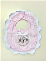 LIGHT PINK SEERSUCKER BIB