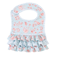 BLUE ROSE RUFFLED BIB