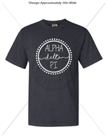 GRAPHITE ALPHA DELTA PI DOT DESIGN T-SHIRT