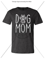 DOG MOM DARK HEATHER T-SHIRT