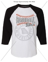 3/4 SLEEVE BASEBALL MOM SHIRT