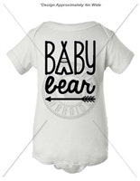 BABY BEAR ONESIE- WHITE