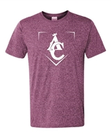 AC KINGS MAROON HEATHER DRI FIT T-SHIRTS