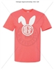 CORAL T-SHIRT WITH BUNNY MONOGRAM