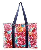 FLOWER PATTERN SMALL UTILITY TOTE