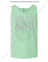 ISLAND REEF INTERTWINED JUMBO MONOGRAM TANK
