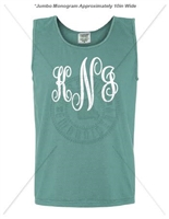 SEAFOAM FANCY JUMBO MONOGRAM TANK