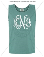 SEAFOAM INTERTWINED JUMBO MONOGRAM TANK