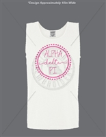 WHITE ALPHA DELTA PI DOT DESIGN TANK