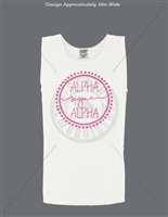 WHITE ALPHA SIGMA ALPHA DOT DESIGN TANK