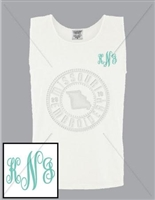 WHITE FANCY EMB LC MONOGRAM TANK