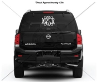 12 INCH INTERTWINED MONOGRAM DECAL