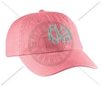 CORAL INTERTWINED MONOGRAM HAT