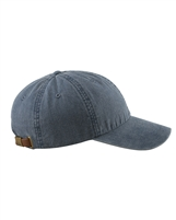 MONOGRAMMED PIGMENT-DYED CAP-NAVY