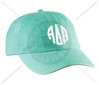 SEAFOAM ADP CIRCLE MONOGRAM HAT