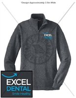 EXCEL DENTAL 1/4 ZIP SWEATSHIRT- LADIES CUT