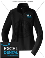 EXCEL DENTAL SPORT WICK 1/2 ZIP PULLOVER- LADIES CUT