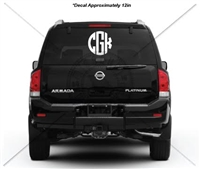 12 INCH CIRCLE MONOGRAM DECAL