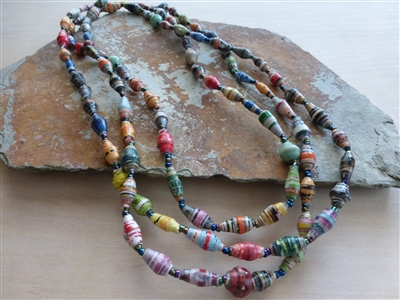 "Ugandan Friendship Necklace, 33"" - Uganda"