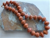 Orange Akanhare Bead Necklace - Uganda