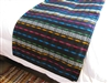 Loomed Coverlet - Black/Color - El Salvador