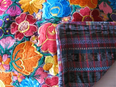 Embroidered Flower Pillow Sham - El Salvador