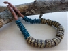 Teal Kayayo Bead Necklace - Ghana