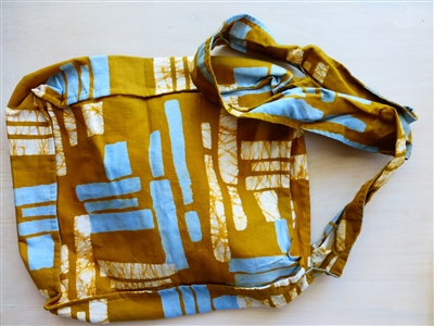 Calico Cityscape Shoulder Bag, Mustard - Ghana