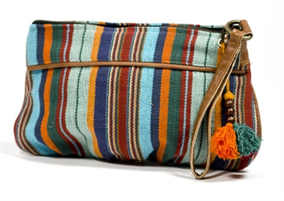 Bohemian Striped Clutch Purse - India
