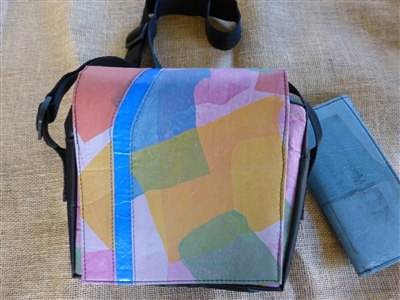Recycled Queenie Messenger Bag - Patchwork