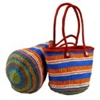 Multi-colored Kiondo Recycled PlasticTote Bag