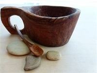 Reclaimed Olive Wood Salt Pot - Kahero Farm, Kenya