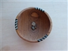 Hand Carved Olive Wood Bowl with Bone Inlay - 6 inches