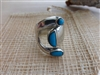 Tecalpulco Turquoise and Silver Ring