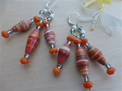 Orange Spotted Fritillary Earings