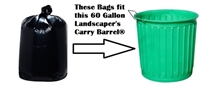 "56-60 Gallon Landscapers Trash Bags Garbage Bags Can Liners Carry Barrel Bags - 43"" x 47"" - 2-MIL - BLACK 100ct"