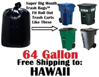 64 Gallon Trash Bags in Hawaii