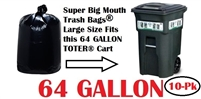 64 Gallon Trash Bags 10 Pack