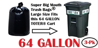 64 Gallon Trash Bags 3 Pack
