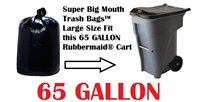 65 Gallon Trash Bags 65 GAL Garbage Bags