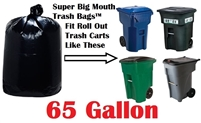 65 Gallon Garbage Bags Super Big Mouth Garbage Bags 65 GAL Trash Bags