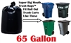 65 Gallon Trash Bags Super Big Mouth Trash Bags 65 GAL Garbage Bags