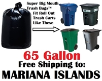 NORTHERN MARIANA ISLANDS 65 Gallon Trash Bags Super Big Mouth Trash Bags 65 GAL Garbage Bags