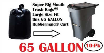65 Gallon Trash Bags 10 Pack