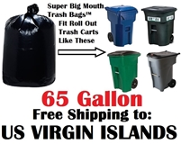 U. S. VIRGIN ISLANDS 65 Gallon Trash Bags