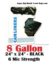 8 Gallon Trash Bags Black
