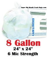 8 Gallon Trash Bags Clear