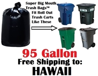HAWAII 95 Gallon Trash Bags HAWAIIN 95 GAL Garbage Bags